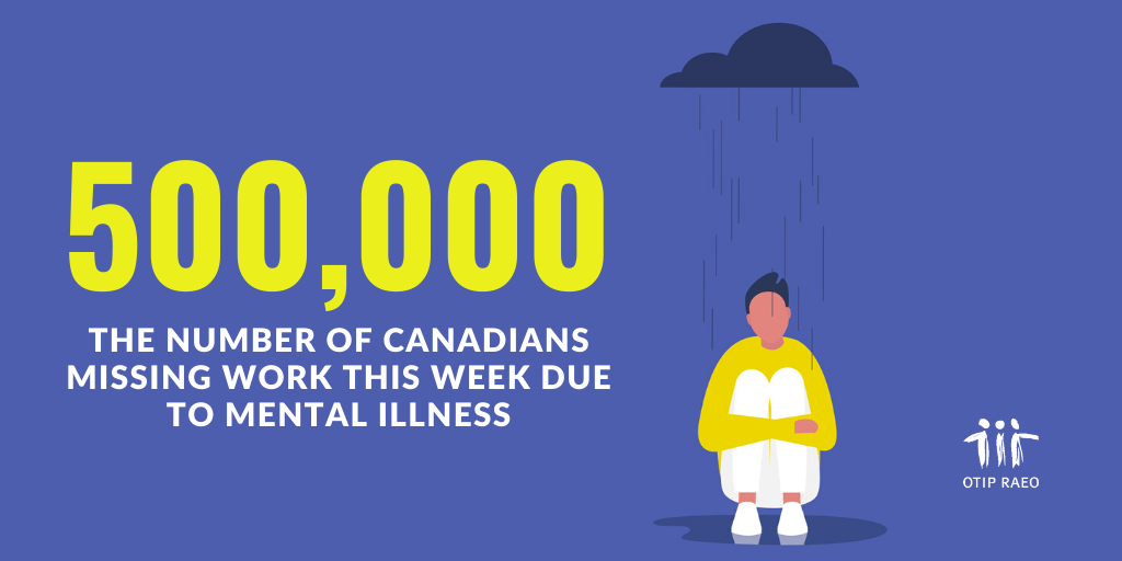 500,000 Canadians will miss work this week due to mental illness